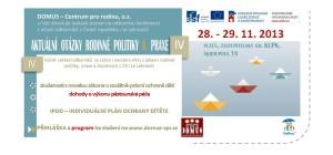 POZVÁNKA MALÁ KONFERENCE DOMUS 2013